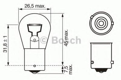 Лампа накаливания, фонарь указателя поворота; Лампа накаливания, фонарь сигнала торможения; Лампа накаливания, задняя противотуманная фара BOSCH купить