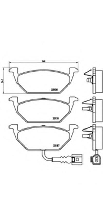 07B31453 BREMBO Колодки тормозные дисковые, к-кт.-1