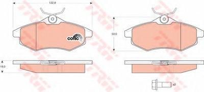 GDB1495 TRW Комплект тормозных колодок, дисковый тормоз