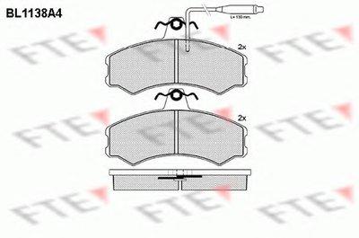 Комплект тормозных колодок, дисковый тормоз FTE купить