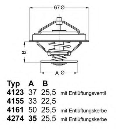 427487D WAHLER Термостат, охлаждающая жидкость