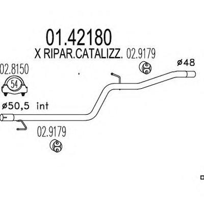 0142180 MTS Ремонтная деталь узла выхлопной системы