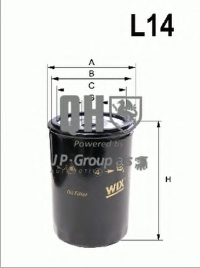 Масляный фильтр QH JP GROUP купить