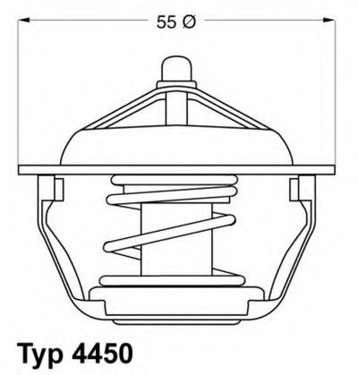 445083D WAHLER Термостат, охлаждающая жидкость
