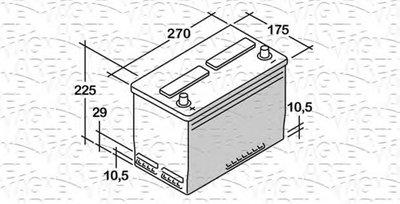 Стартерная аккумуляторная батарея; Стартерная аккумуляторная батарея ES MAGNETI MARELLI купить