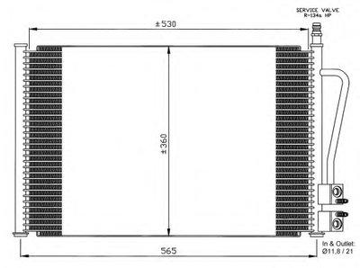 Радиатор Кондиционера NRF 35524 для авто FORD, MAZDA с доставкой