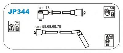 Комплект Проводов Зажигания Hyundai: Elantra I 90-95, Lantra I 90-95, Lantra  90-95, Sonata I 88-93 JANMOR JP344 для авто HYUNDAI с доставкой