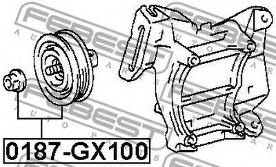 0187GX100 FEBEST Натяжной ролик, поликлиновой  ремень-1