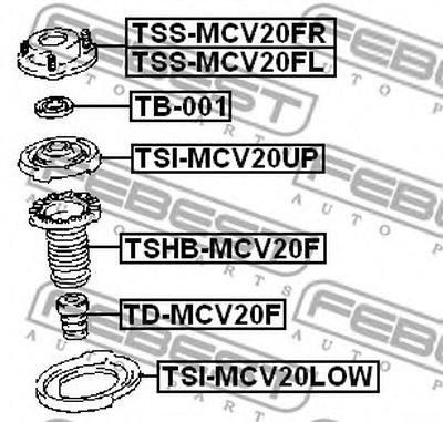 Проставка пружини FEBEST TSIMCV20LOW-1
