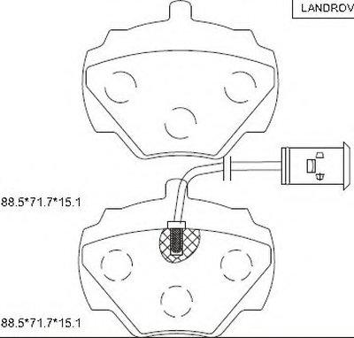 Комплект тормозных колодок, дисковый тормоз ASIMCO купить