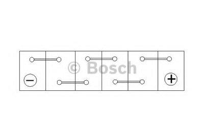 0092S40100 BOSCH Стартерная аккумуляторная батарея; Стартерная аккумуляторная батарея-1