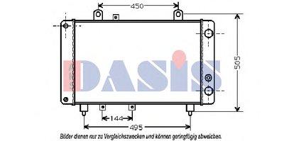 Радиатор, охлаждение двигателя AKS DASIS купить