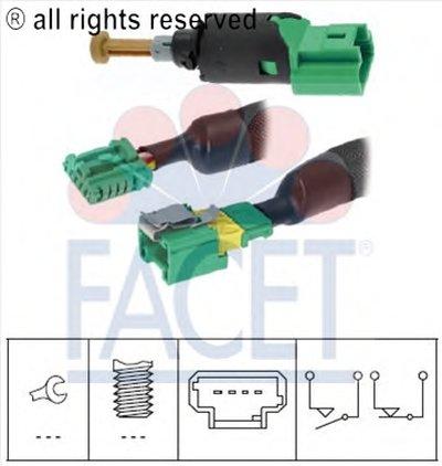 Выключатель фонаря сигнала торможения FACET купить