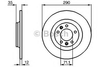 """Гальмівний диск CITROEN/PEUGEOT C5/407/607 R """"04>>"""