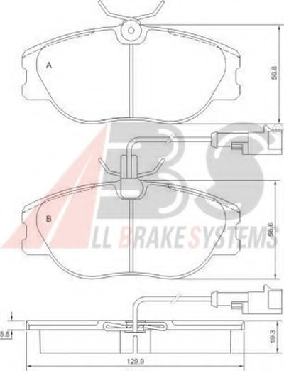 Комплект тормозных колодок, дисковый тормоз A.B.S. купить