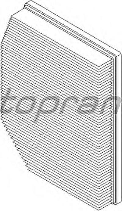 501666 TOPRAN Воздушный фильтр