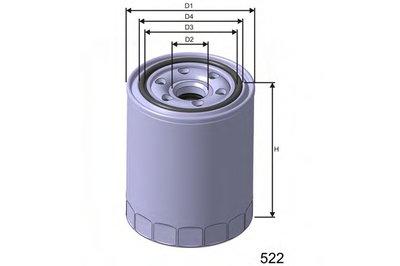 Z244 MISFAT Масляный фильтр