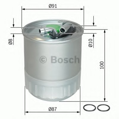 F026402056 BOSCH Топливный фильтр -1