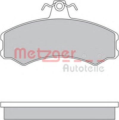 Комплект тормозных колодок, дисковый тормоз METZGER купить