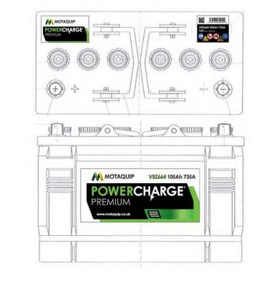 Стартерная аккумуляторная батарея Powercharge Premium MOTAQUIP купить