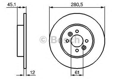 0986479195 BOSCH Тормозной диск