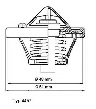 445782D WAHLER Термостат, охлаждающая жидкость