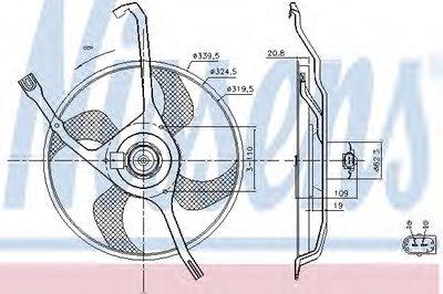 Вентилятор, охлаждение двигателя NISSENS купить