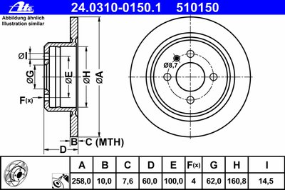 Тормозной диск Power Disc ATE купить