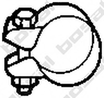 250345 BOSAL Клемма, система выпуска-1