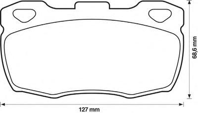 Комплект тормозных колодок, дисковый тормоз JURID купить