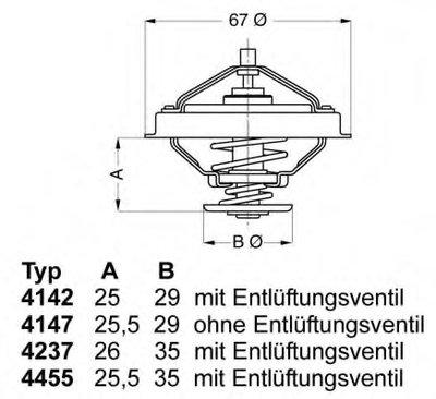 423780D WAHLER Термостат, охлаждающая жидкость