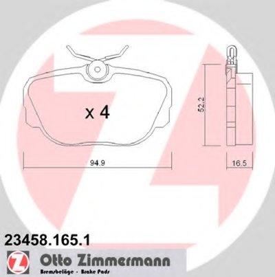 Комплект тормозных колодок, дисковый тормоз ZIMMERMANN купить