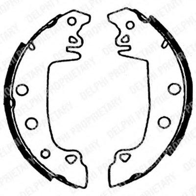 Комплект тормозных колодок DELPHI купить