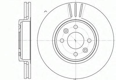 Диск тормозной RENAULT CLIO, KANGOO передн., вент. (пр-во REMSA)