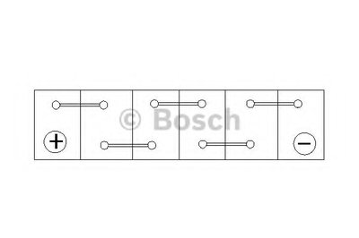 0092S40090 BOSCH Стартерная аккумуляторная батарея; Стартерная аккумуляторная батарея-4