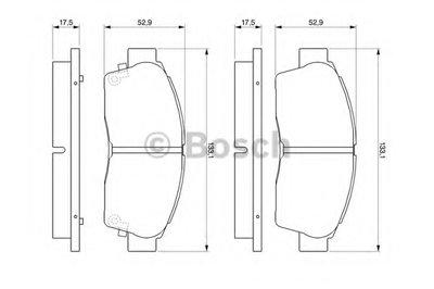 Гальмівні колодки TOYOTA Camry/Corolla/Carina E/RAV 4/Sprinter ''F ''>>02