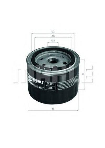 OC384 MAHLE ORIGINAL Масляный фильтр