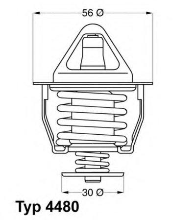 448082D WAHLER Термостат, охлаждающая жидкость