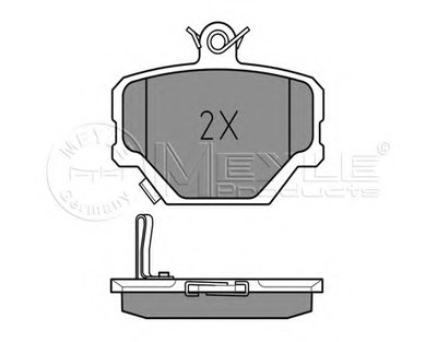 MEYLE 0252199915 Тормозные колодки дисковые