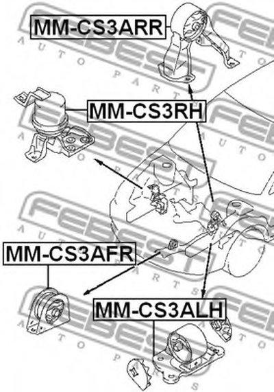 Опора двигуна FEBEST MMCS3AFR-1