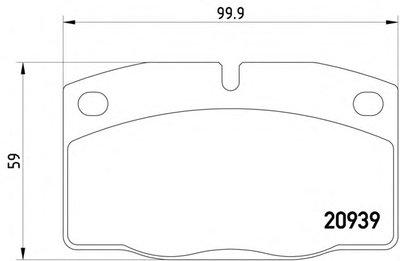 Колодки Передние 8Кл TEXTAR 2093903 для авто LOTUS, OPEL с доставкой