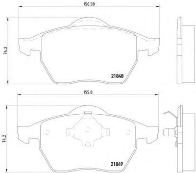 Фотография Комплект тормозных колодок, дисковый тормоз MINTEX MDB1741