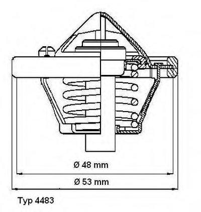 448382D WAHLER Термостат, охлаждающая жидкость