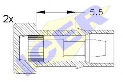 Сигнализатор, износ тормозных колодок ICER купить