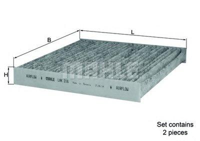 LAK216 KNECHT Фильтр, воздух во внутренном пространстве