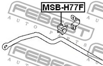 Втулка стабілізатора FEBEST MSBH77F-1