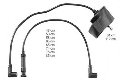 ZEF970 BERU Провода высоковольтные, комплект