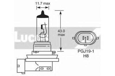 Лампа накаливания, противотуманная фара; Лампа накаливания, стояночный / габаритный огонь LUCAS ELECTRICAL купить