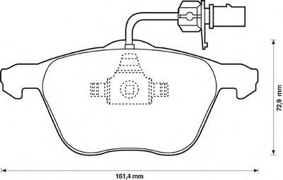 Колодки дискового тормоза (пр-во Jurid) JURID 573047J