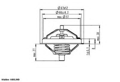 448880D0 WAHLER Термостат, охлаждающая жидкость
